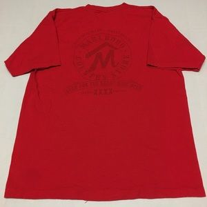 Vintage Marlboro graphic logo red pocket t shirt